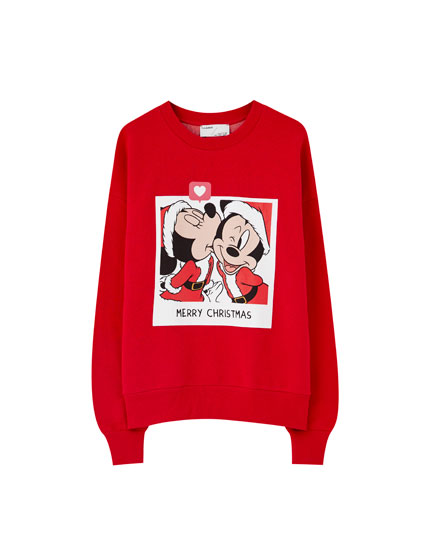 Mickey and Minnie Mouse Santa sweatshirt