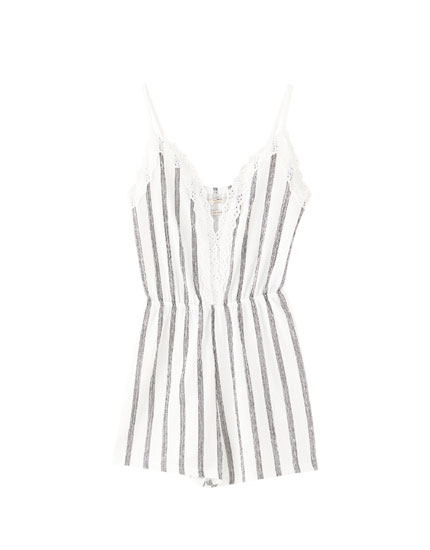 Playsuit with thin straps