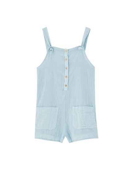 Rustic strappy playsuit