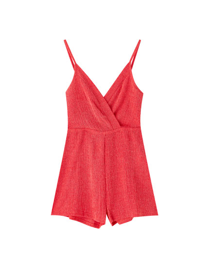 Strappy wrap playsuit