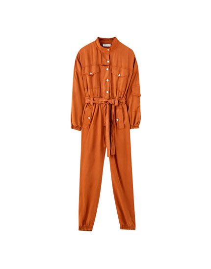 Cargo jumpsuit with buttons