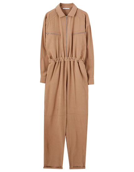 Worker jumpsuit with zips