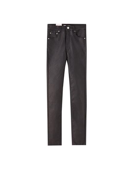 Jeans skinny similicuir