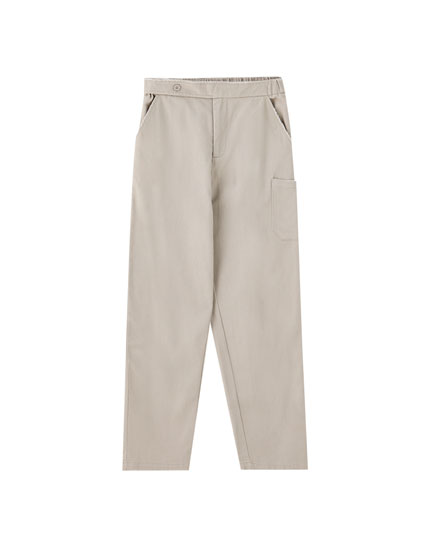 Cargo trousers with patch pockets