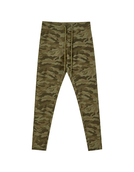 Camouflage jogger leggings