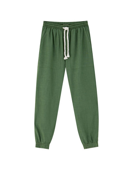 Rustic jogging trousers
