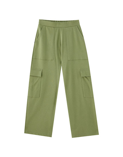 Pantalón cargo culotte