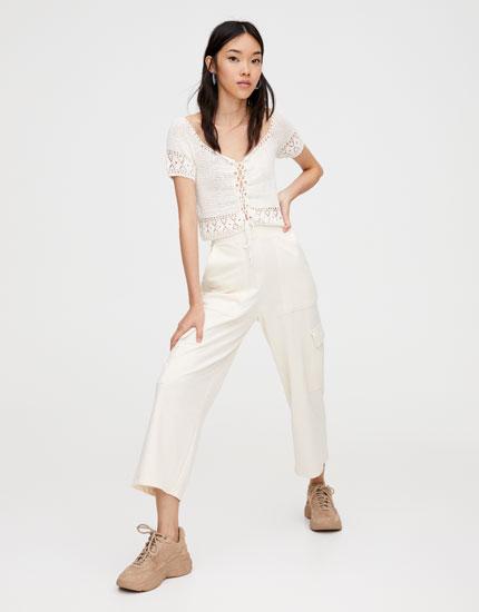 Cargo culotte trousers