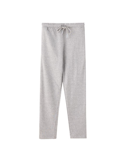 Joggers with straight hems
