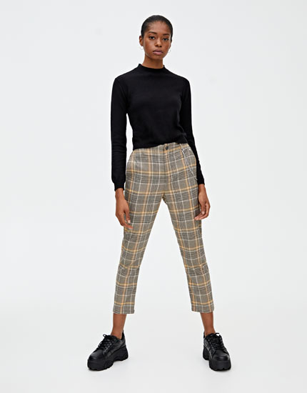 Yellow checked trousers