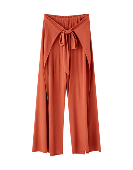 Wraparound coloured culottes