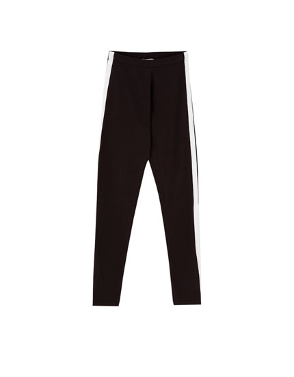 Basic leggings with side stripe detail