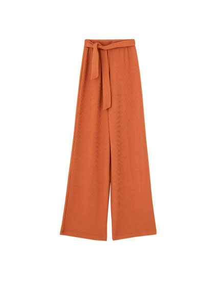 Brown '70s trousers