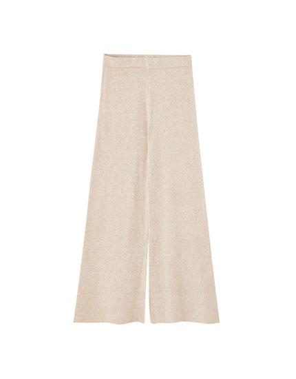 Πλεκτό παντελόνι culotte