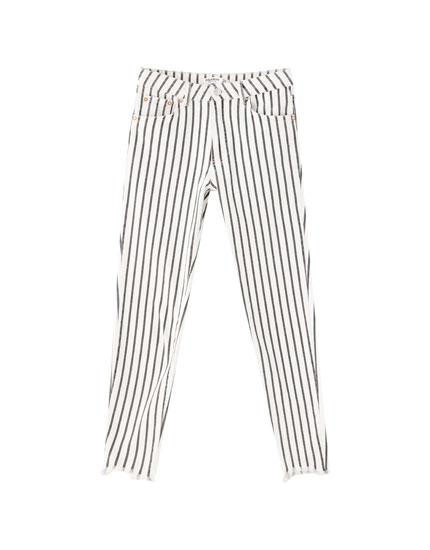 Jeans à rayures skinny