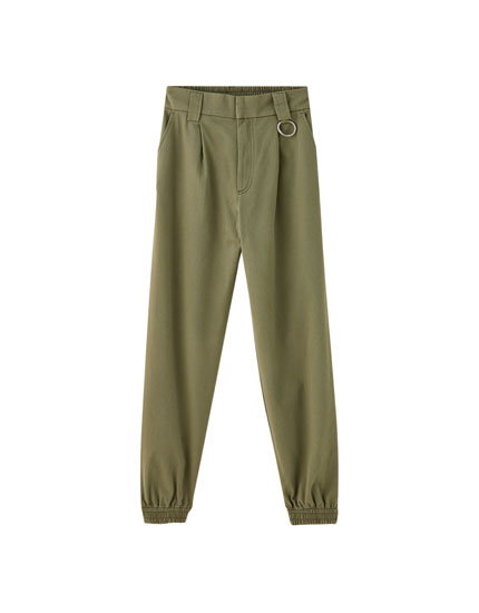 Cargo trousers with front darts