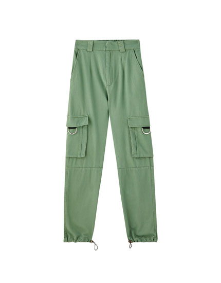 Cargo trousers with pocket rings