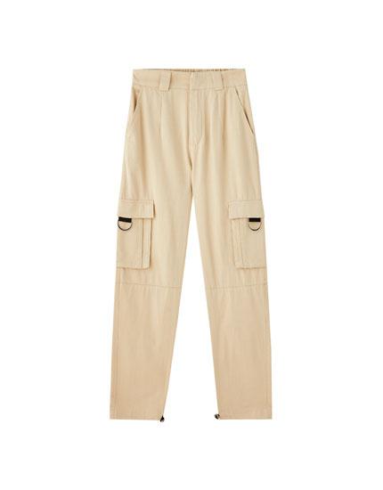 Παντελόνι cargo με κρίκους και τσέπες
