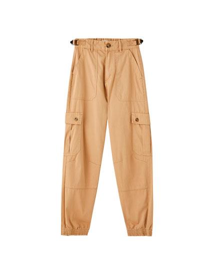 Παντελόνι cargo με λάστιχο στο κάτω μέρος