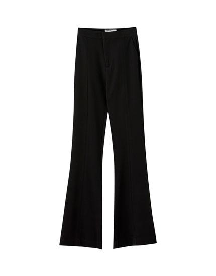 Basic black flared trousers