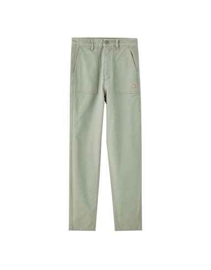 Pantalon cargo denim
