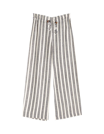 Nautical stripe culottes
