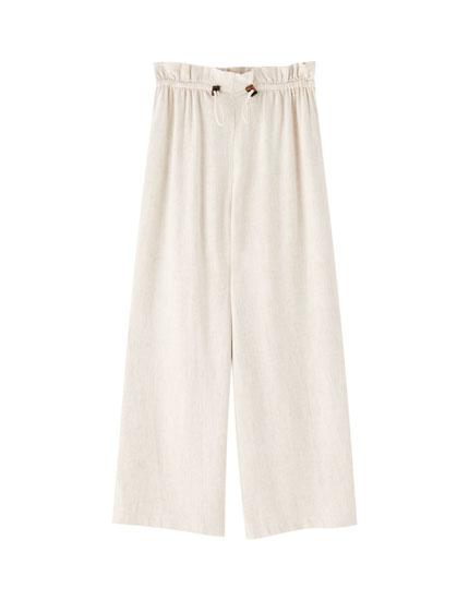 Pantalons culotte llisos
