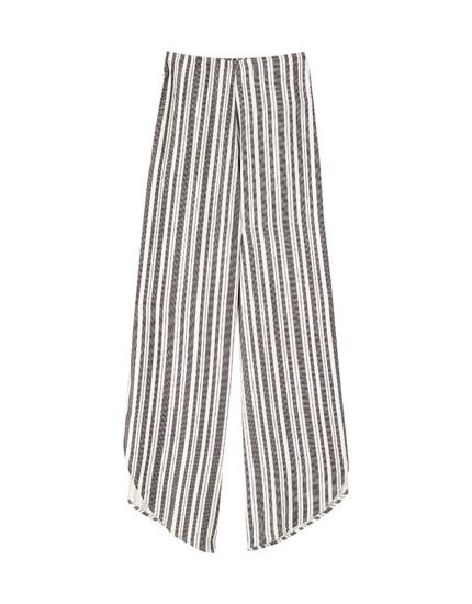 Pantalón rayas rústico