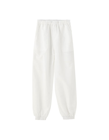 White harem trousers