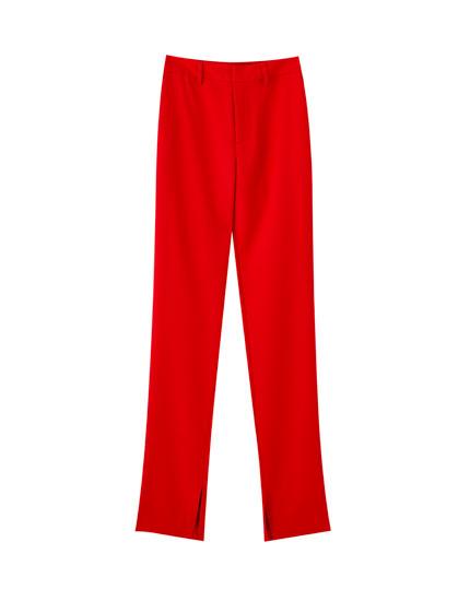 Pantalons rectes vermells