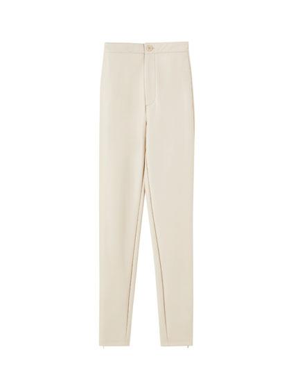 Pantalon skinny similicuir