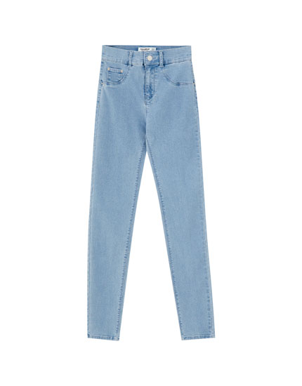 Push-up jeans with no pockets