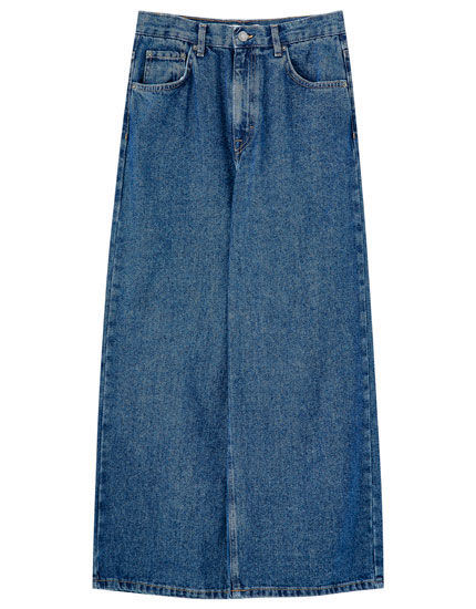 Basic blue culotte jeans