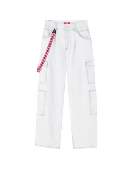 Rosalía cargo jeans