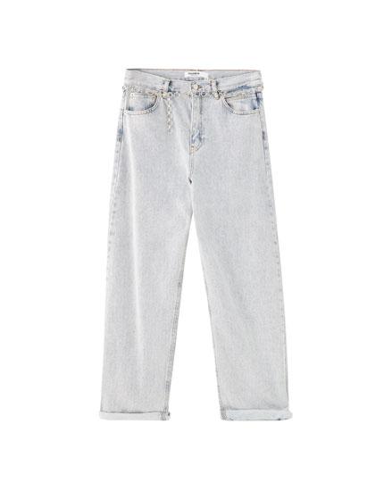 Jean ample ceinture
