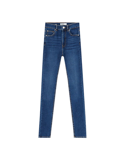 Jean skinny taille haute basique