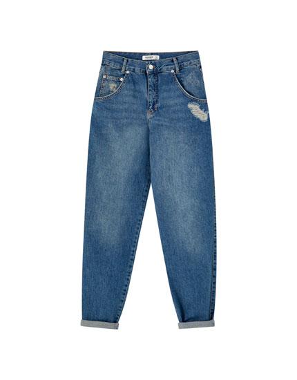 Τζιν παντελόνι slouchy basic