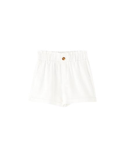 Basic Bermudas with elastic waistband