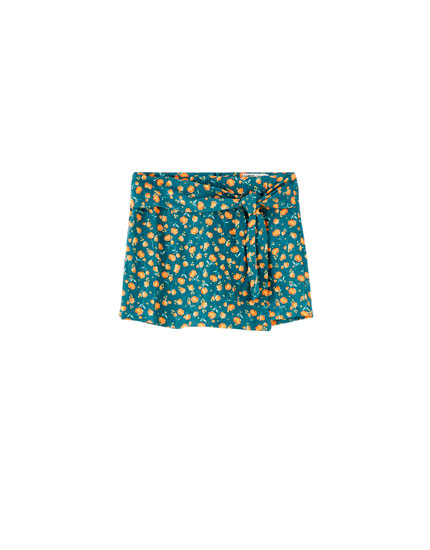 Jupe-culotte fleurs colorées