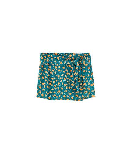 Falda pantalón flores colores