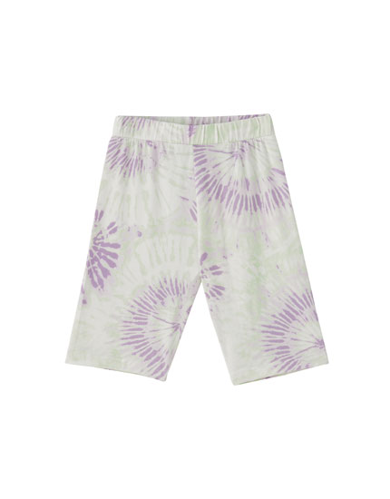 Tie-dye cycling trousers