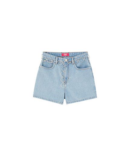 Rosalía denim shorts
