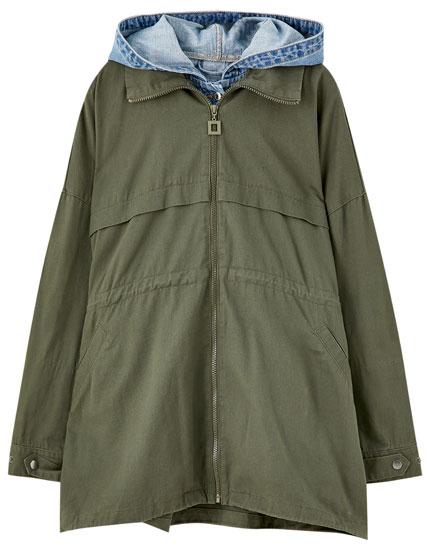 Khaki raincoat