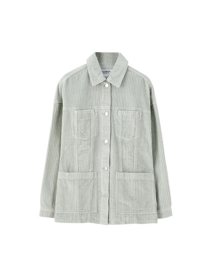 Corduroy worker jacket