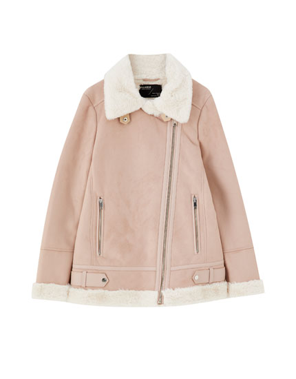 Pink double-faced jacket