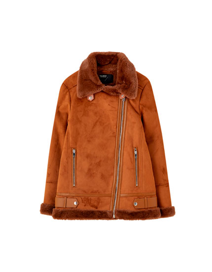 Brown double-faced jacket