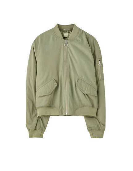 Basic coloured bomber jacket