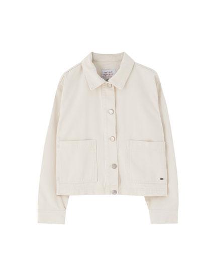 Blouson workwear beige poches