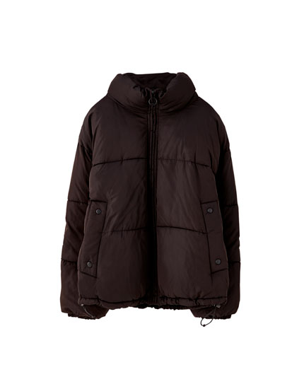 High neck puffer jacket