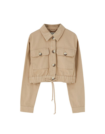 Cropped beige jacket
